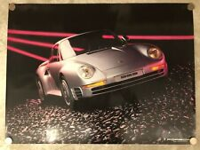 1985 Porsche 959 Showroom Poster (Unfolded version) English RARE!! RARITÄT L@@K