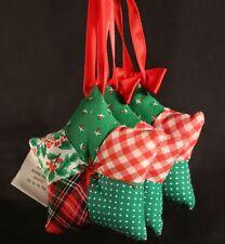 1986 Hallmark Box of Three (3) Fabric Star Gift Trim