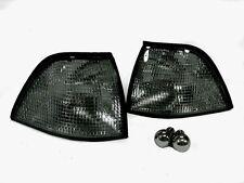 DEPO 92-99 BMW E36 2D Coupe & Convertible Euro Smoke Corner Light + Chrome Bulbs