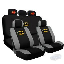 Batman Deluxe Car Seat Covers and Classic POW Logo Headrest Covers For Mazda
