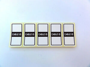 50x Cable id Tidy Labels Self Adhesive Sticky Identification Stickers Tags White