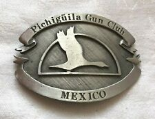 Vintage Pichiguila Gun Club Mexico Belt Buckle