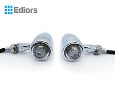 2X Chrome Bullet Turn Signal Amber Light Indicator Blinker For Harley Bobber