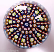 """Perthshire Glass Art Paperweight """"P"""" Signed Cane """"Millefiori"""" GORGEOUS!"""