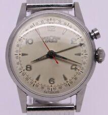 VINTAGE c.1950's Vulcain Cricket Mens 33mm Steel Manual Alarm Watch = ORIGINAL =