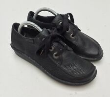 Clarks Black Leather Funny Dream Lace Up Shoes Size UK 6