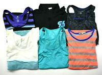 Women's Large Mixed Brands & Styles Athletic Wear/Workout Wear Tops Lot of 6