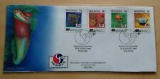 1994 Malaysia PHILAKOREA Exhibition Overprint Stamps FDC (pitcher plants cover)