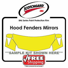 Kits for Nissan - 3M 846 Scotchgard Paint Protection Film - Hood Fender Tips Mir