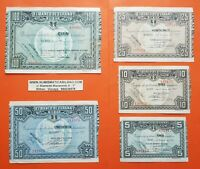 BILBAO 5+10+25+50+100 PESETAS 1937 EUSKADI GUERRA CIVIL EUZKADI 1936 BILLETES 6