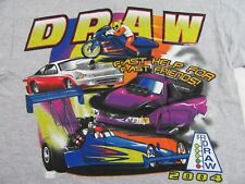 D.R.A.W. Fast Help For Fast Friends Women racing Souvenir T Shirt Size S