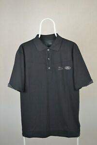 Mens Jaguar British Land Rover Polo Grey Shirt Cotton Size S