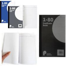 80pg double Note Livre numéroté Carbone Feuille Shop Bureau Note détails de la Commande Pad