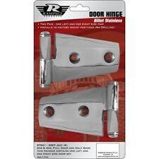 Rampage 87541 Polished Stainless Door Hinges Set of 4 fits 07-12 JK 2-DR/4-DR