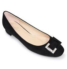 BNIB Lunar Ladies JOSIE Black Suede Pump Low Heel Court Shoes UK 3/36