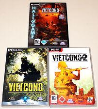3 PC juegos colección-Vietcong 1 & 2 & Add on Purple Haze, incluyendo Alpha first