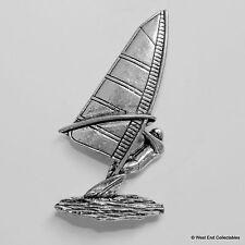 Windsurf PELTRO pin spilla-British Artisan firmato BADGE-tavola con vela surf