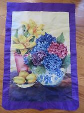 New listing Evergreen Enterprises Floral Reversible Flag Brenda Bickerstaff-Stanley Guc