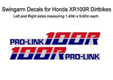 Swingarm Decals for Honda XR100r dirtbike - XR100 XR 100 100r