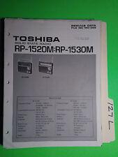 Toshiba rp-1520m 1530m service manual original repair book radio
