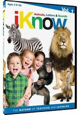 iKnow: Animals, Letters & Sounds, Vol. 1 (DVD, 2012) Ages 3 & Up WORLD SHIP AVAI