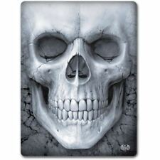 Spiral Direct Solemn Skull Skeleton Gothic Black Fleece Throw Blanket