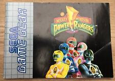 Sega game gear - Mighty Morphin Power Rangers - manual/instruction manual