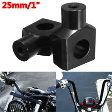 25mm 1'' Bar Handlebar Risers Clamp W/ Bolt For Motorcycle Harley Cruiser Custom
