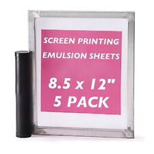 "Emulsion Sheets - 5 Pack - 8.5""x12"" DIY Yudu Style Screen Printing - 30 Microns"