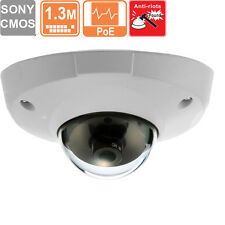 Low Lux  Dome Vandal-Proof Metal IP Security Camera 3.6 mm  1.3 MP POE
