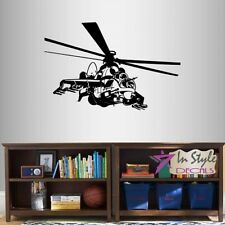 Vinyl Decal Attack Military Helicopter Army Marines Boys Kids Wall Sticker 986