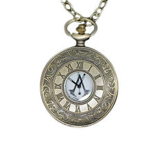 Vintage Style Antique Pocket Watch  Assassin's Creed Pocket Watch Metal Watch