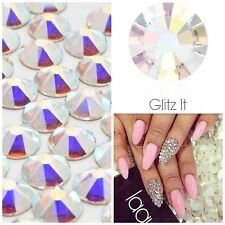 Swarovski x 50 MIXED SIZE Crystals AB Diamantes Rhinestones GLUE ON Nail Art