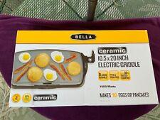 BELLA Ceramic 10.5 x 20 inch Electric Griddle (NEW)