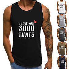 Men's Muscle Sleeveless T Shirt Tank Vest Tops Sports Gym Fitness Workout Tee