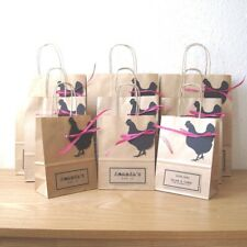 Hen party bag LARGE 22.5cm x 31.5cm x 10cm personalised brown paper gift bag