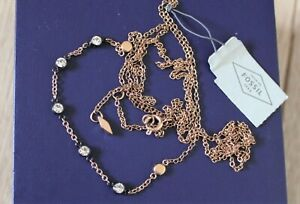 Fossil 2 layer necklace, NEW! RRP £58
