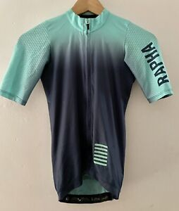 RAPHA Pro Team Aero Jersey Mens - XS (fits Women S) Short Sleeve Colourburn Blue