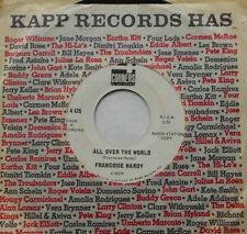 """FRANCOISE HARDY All Over The World / Another Place Ex CANADA 1965 PROMO 45 7"""""""