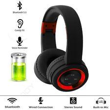 Wireless Headphones Bluetooth V5.0 Noise Cancelling Deep Bass Headphone Headset