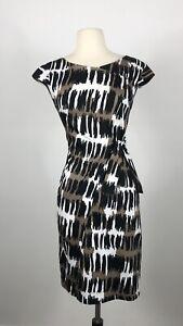SACHA DRAKE Cotton Print Dress. Size 8. EUC