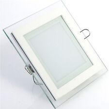 6W 12W 18W LED Panel Glas Unterputz Einbauleuchten Warmweiß Neutralweiß Eckig