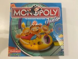 Monopoly Junior Board Game Childrens Rollercoaster Monopoly 2001 Hasbro Complete