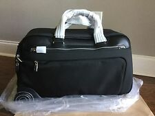TUMI Arrive Rockford Wheeled Duffel BLACK With LEATHER Trim 255063 Carry On $995