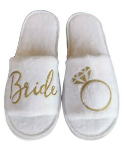 BRIDAL Slippers Bridesmaid Wedding Bride Slippers Maid of Honour (High Quality)
