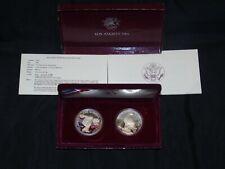 Two,1983 & 1984 Los Angeles Olympic U.S. Mint Silver Dollar Set 900 fine