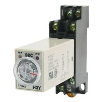 H3Y-2 DC 12V  Delay Timer Time Relay 0 - 10 Seconds with Base
