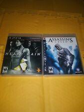 Ps3 Game Bundle - Heavy Rain & Assasins Creed ( Complete )
