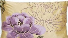 Embroidered Lilac Flower Cushion Cover Botan Osborne & Little Silk Fabric