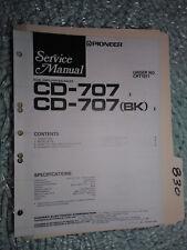 Pioneer Cd-707 service manual original repair book car stereo amp balance 8 page